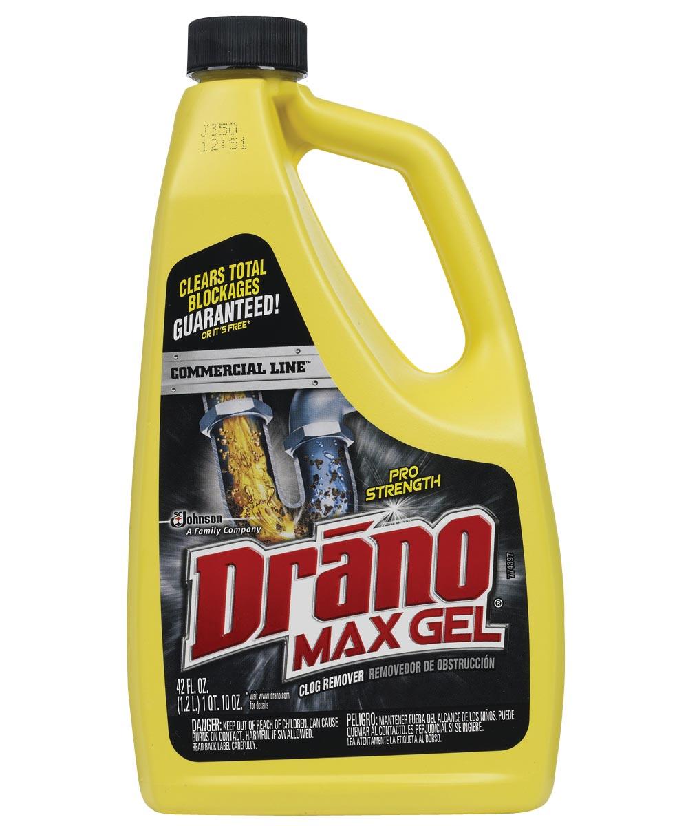 Drano Max Clog Remover, 42 oz Bottle, Natural Gel