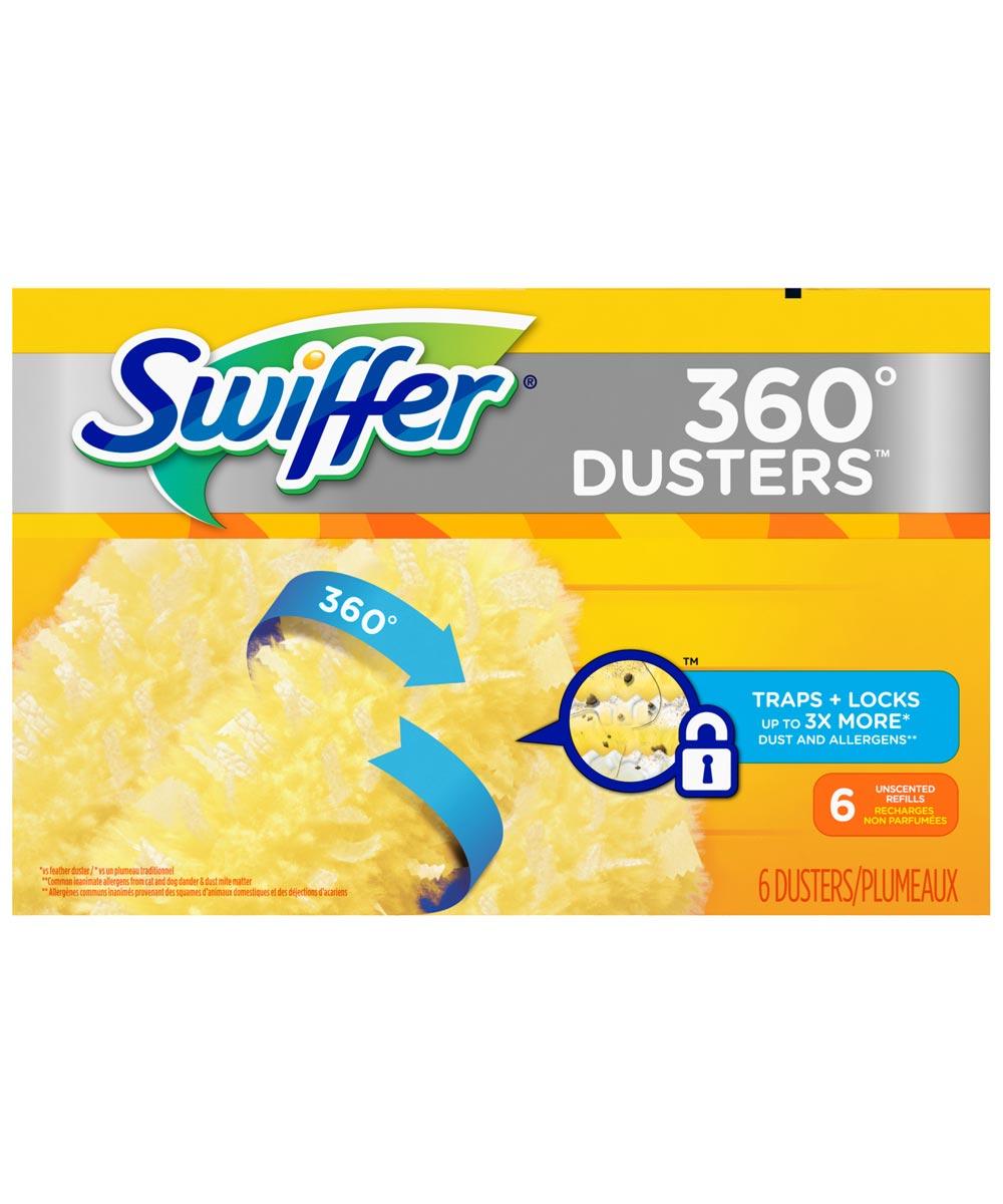 Swiffer Disposable Electrostatic Duster Refill, 360 deg, Microfiber