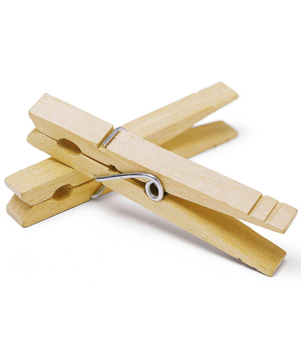 Wood Wire Spring Clothespins 50 Count