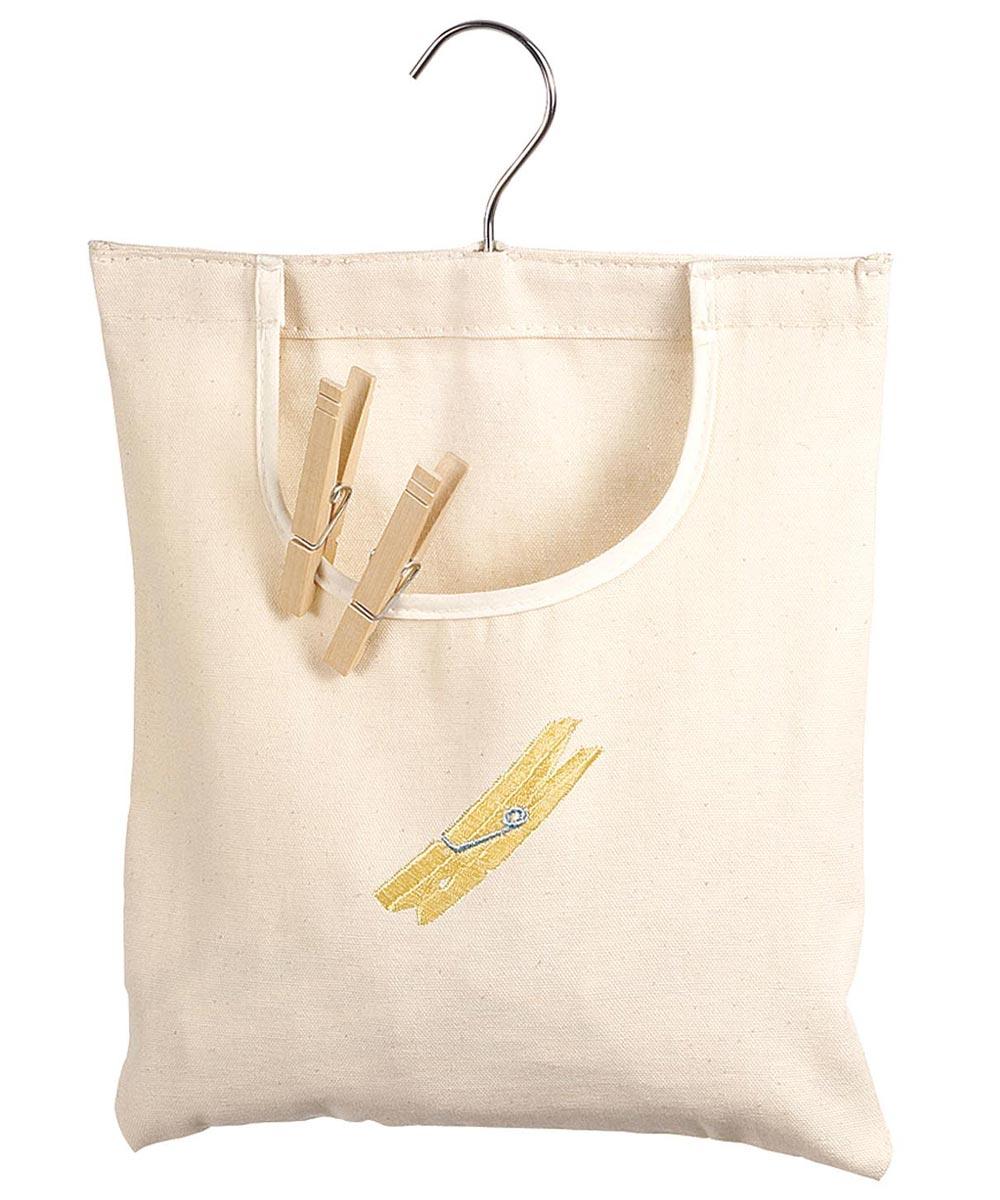 Natural Canvas Clothespin Bag