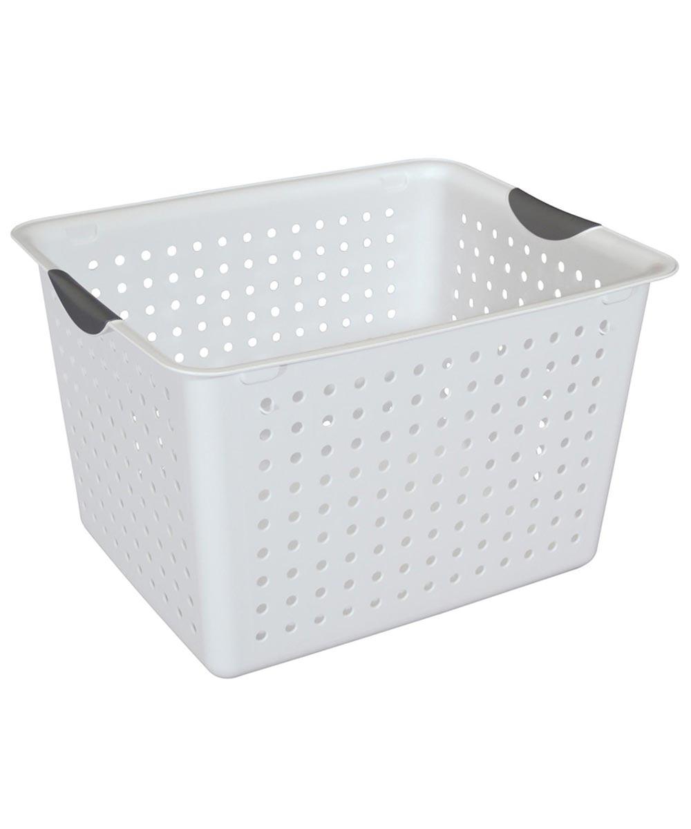 Sterilite Deep Ultra Storage Basket, White