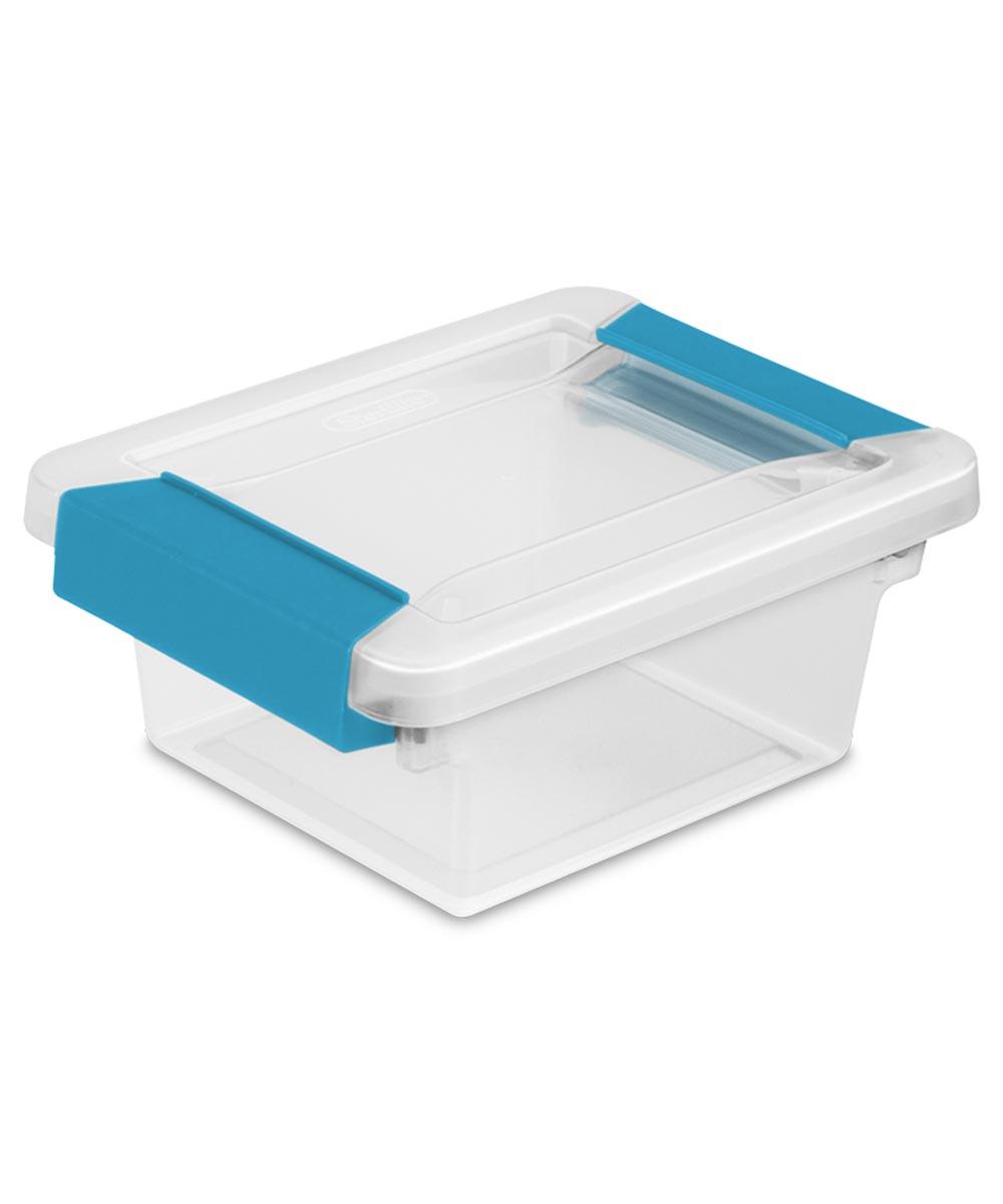 Sterilite Mini Plastic Clip Storage Box, Clear