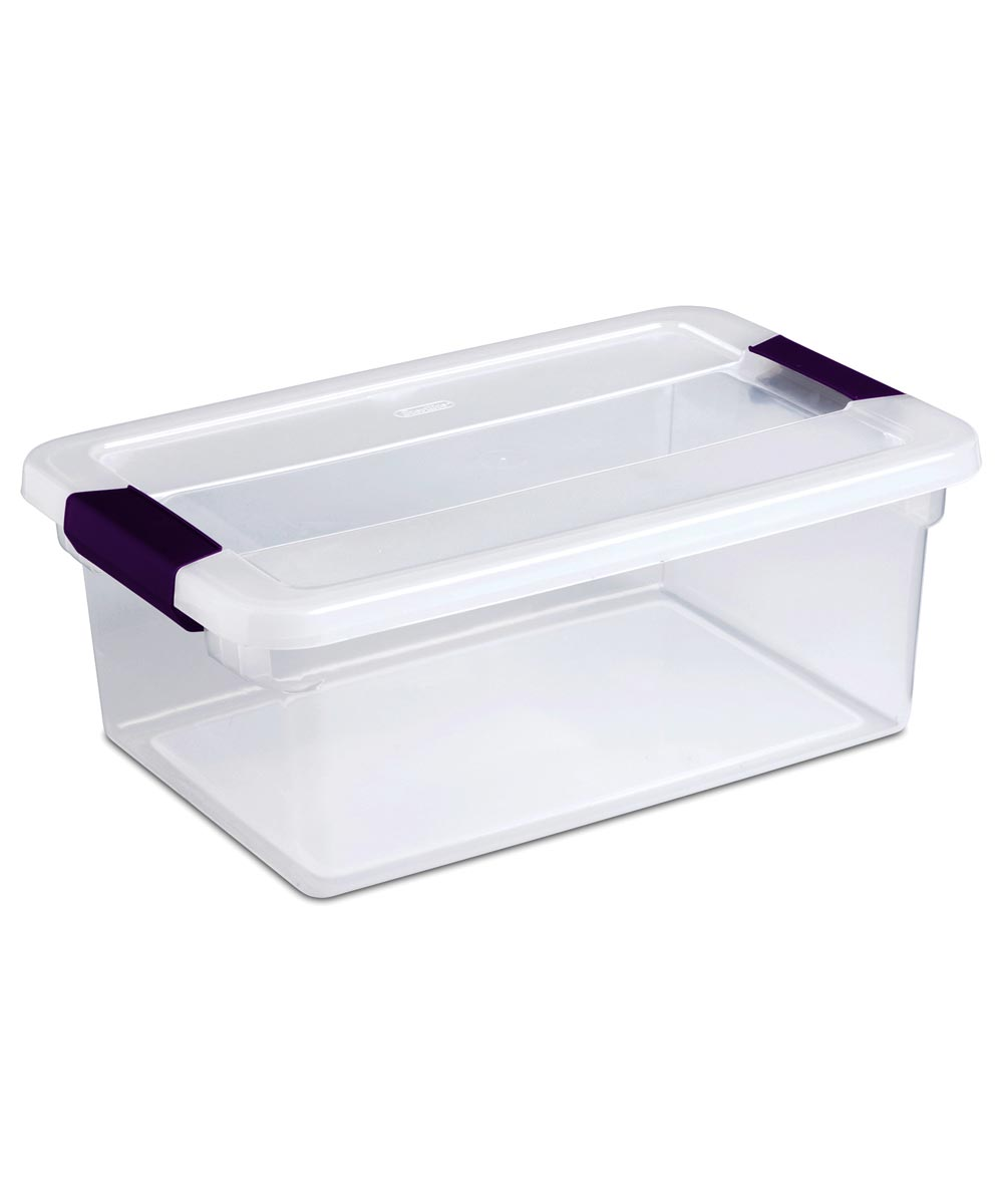 15 Quart ClearView Latch Storage Box With Sweet Plum