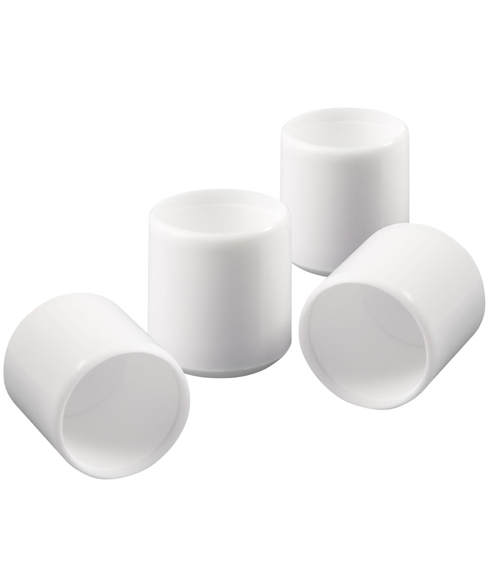 7/8 in. White Vinyl Chair Tips 4 Count