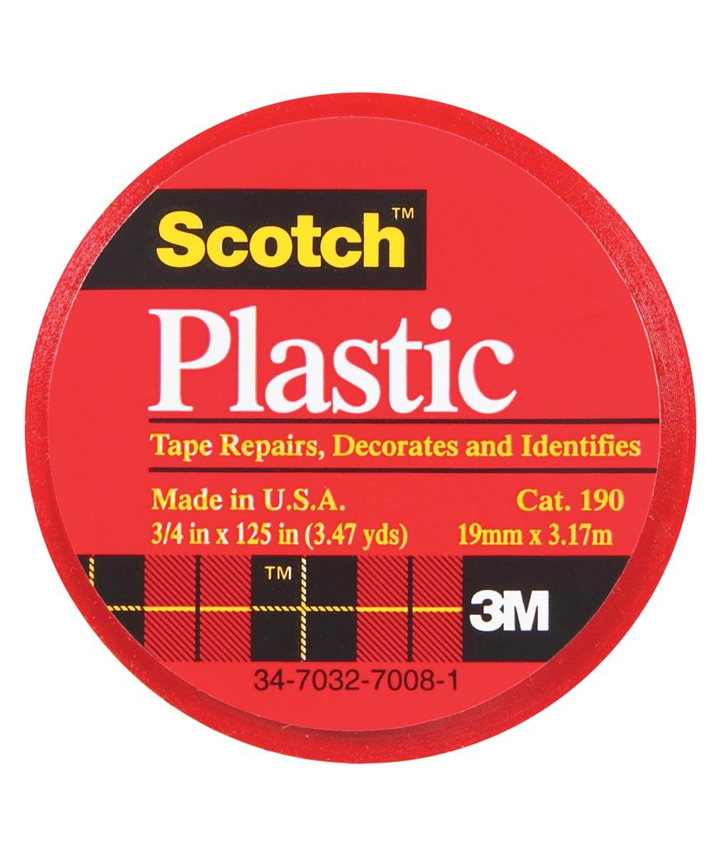 3/4 in. x 125 in. Scotch Red Plastic Tape