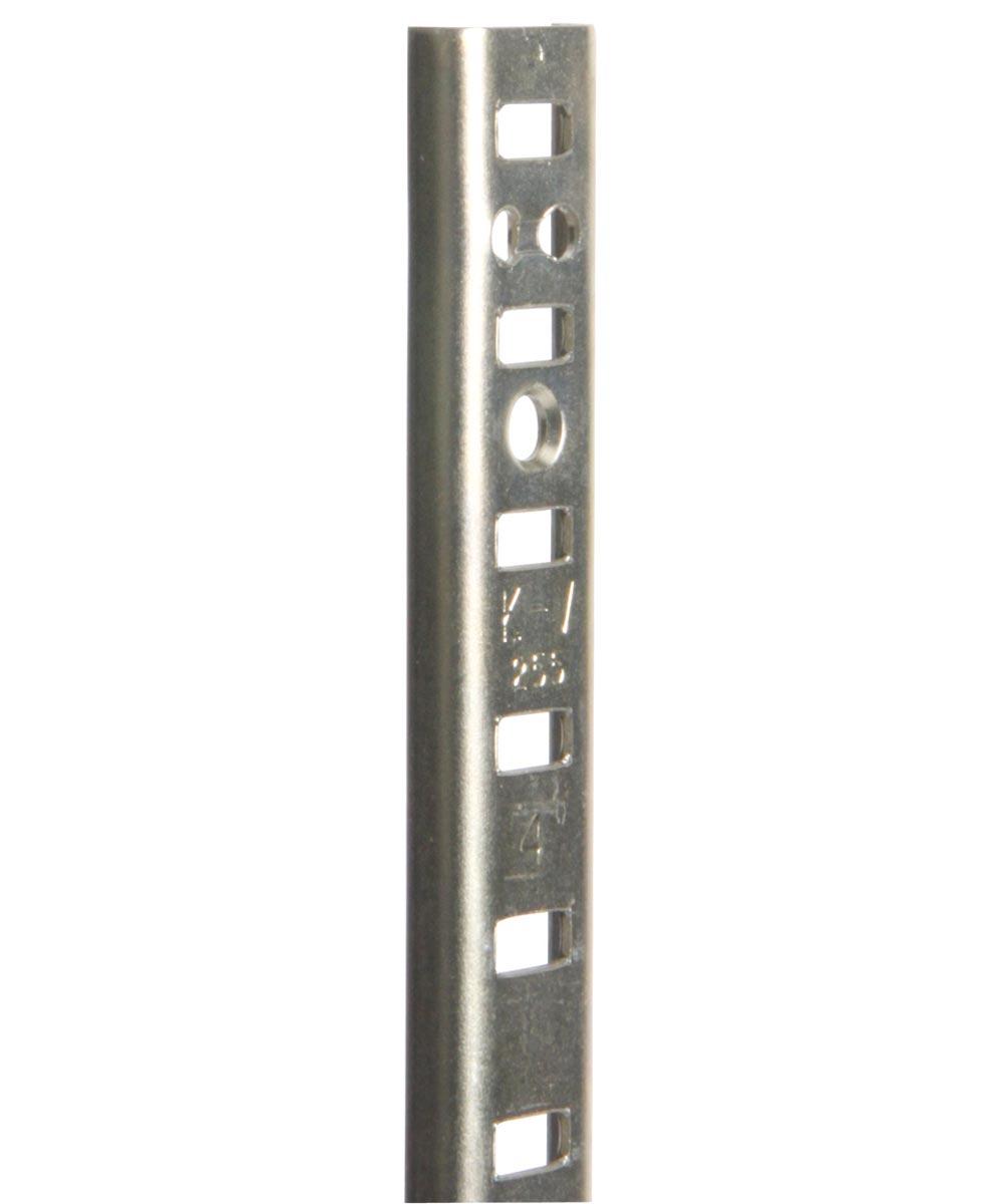 Pilaster Shelf Standard, 48 in. (L) x 5/8 in. (W) x 3/16 in. (H), Steel, Bright Zinc