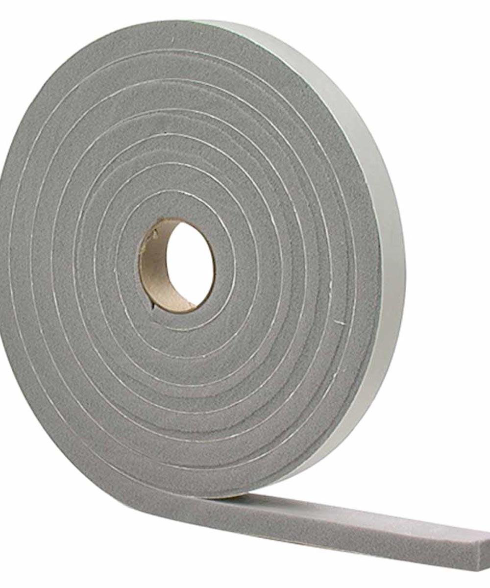 3/8 in. x 10 ft. Gray Waterproof & Airtight Foam Tape Weather Stri