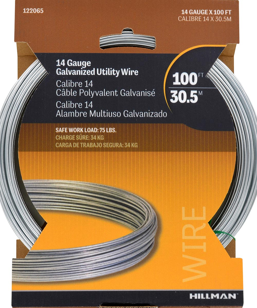 Galvanized Solid Wire #14 100ft Coil