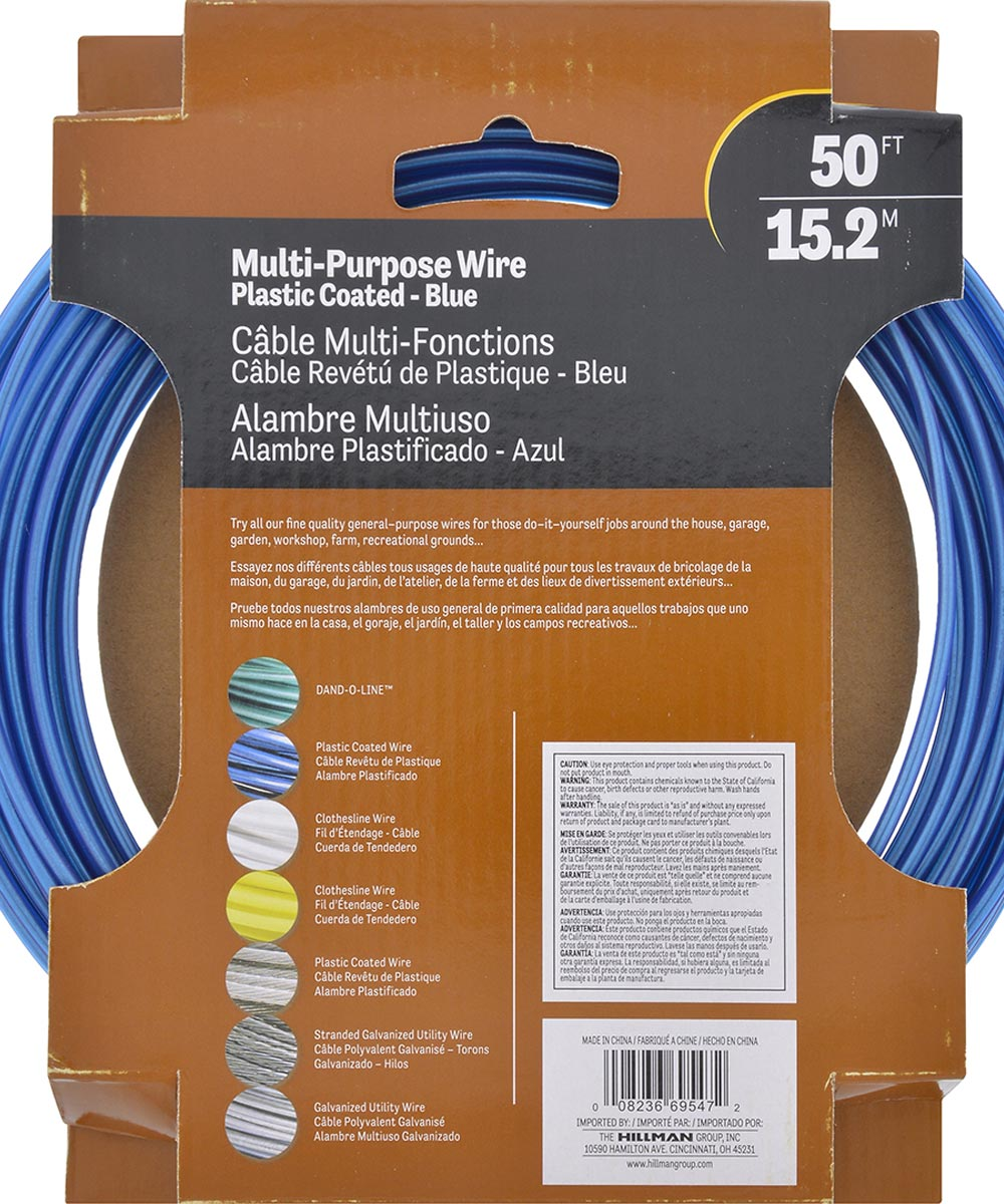 Blue Coated Galvanized Stranded Wire 3 strand 50ft