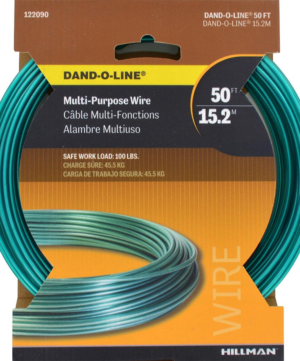 Dando-O-Line Fiber Core Green Clothesline Wire 50ft