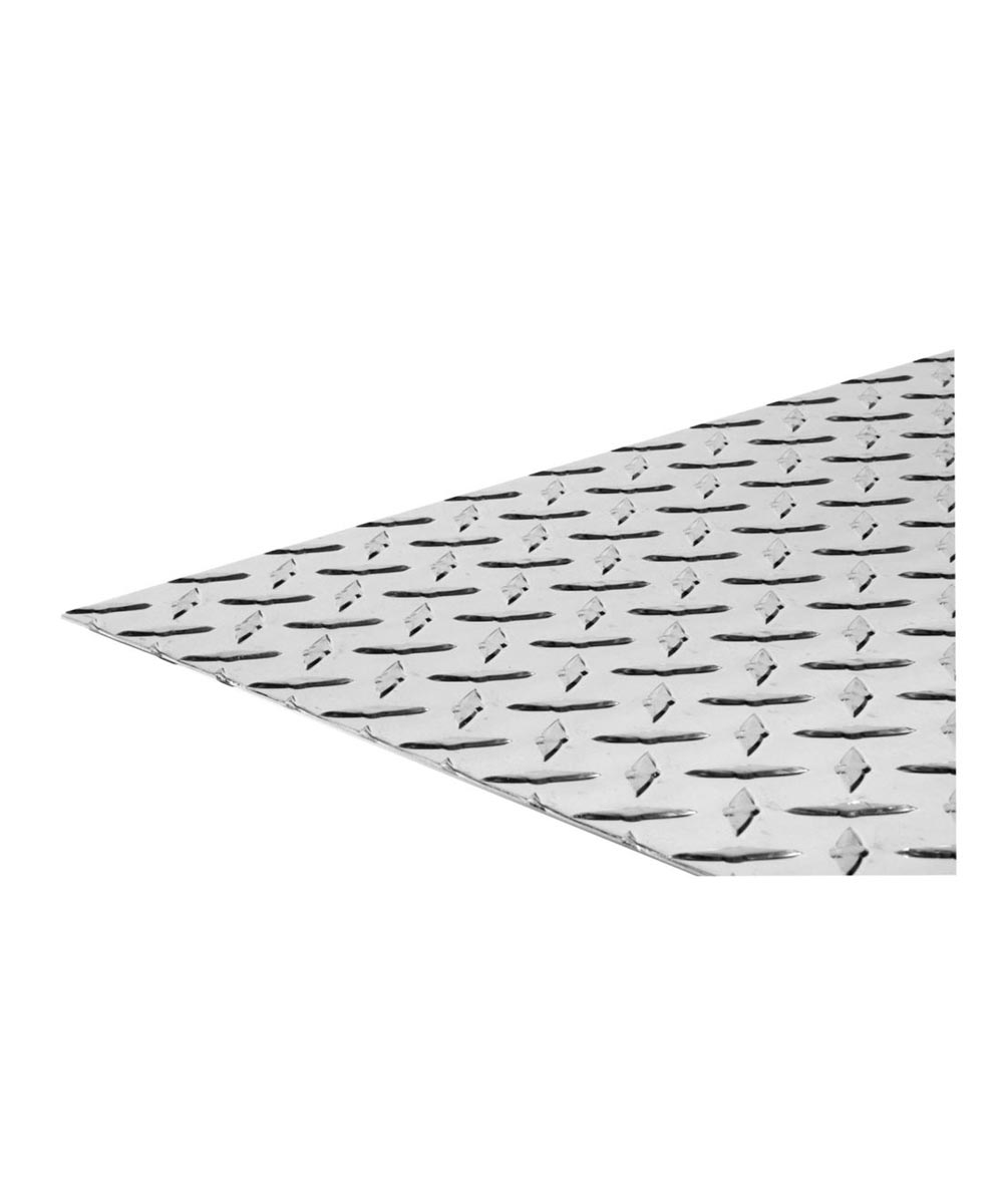 The Steel Works Brite Aluminum Tread Plate 24 in. x 48 in. x 0.063 in. Thickness