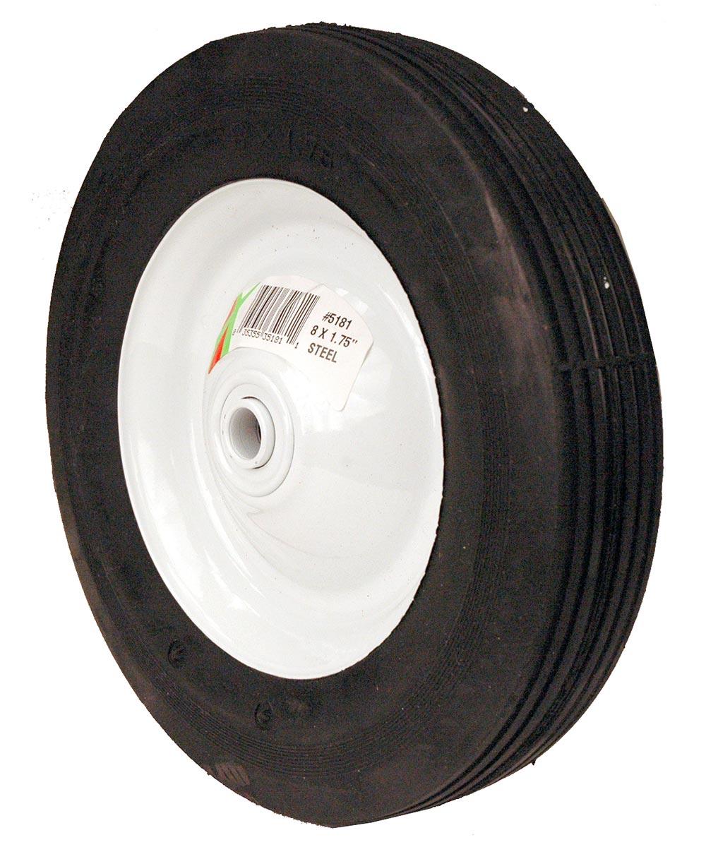 8 in. x 1.75 in. Ribbed Tread Steel Wheel