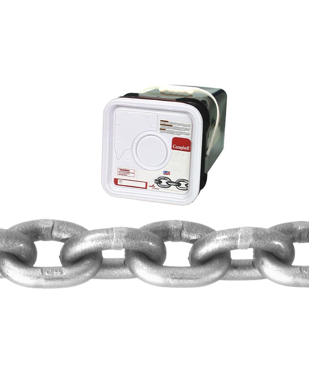 High Test Chain, 3/8 in., 5400 lb, Carbon Steel (Sold Per Foot)