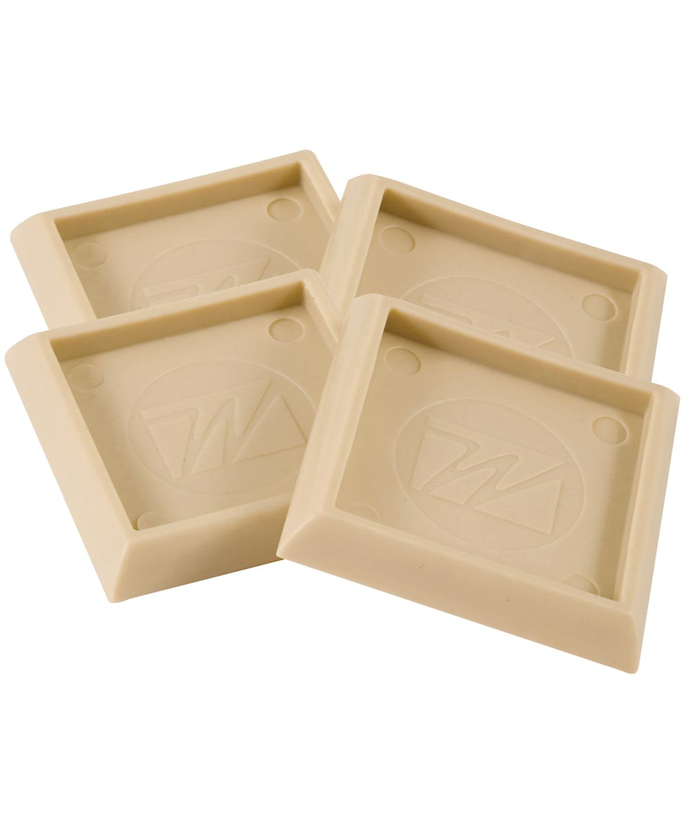 2 in. Almond Square Caster Cups 4 Count