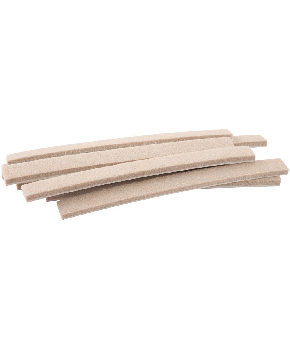 1/2 in. x 6 in. Oatmeal Self-Stick Felt Strips 6 Count