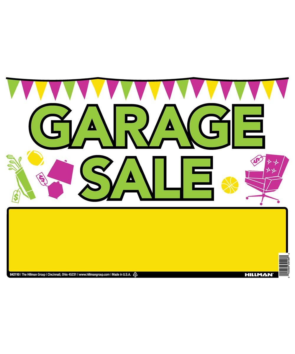 Vibrant Garage Sale Sign 10 in. X 14 in.