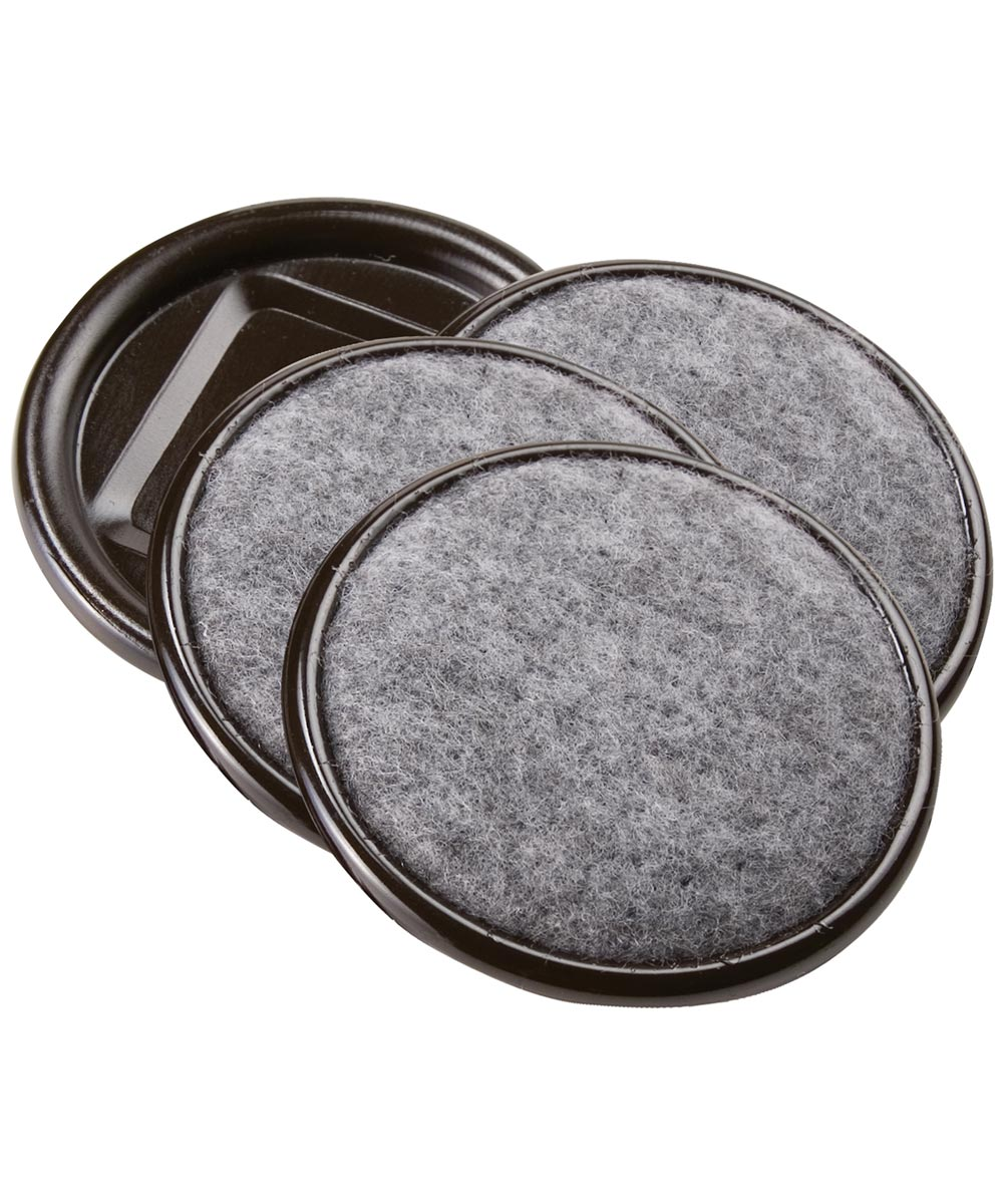 2-1/2 in. Gray Round Carpet Caster Cups, 4 Count