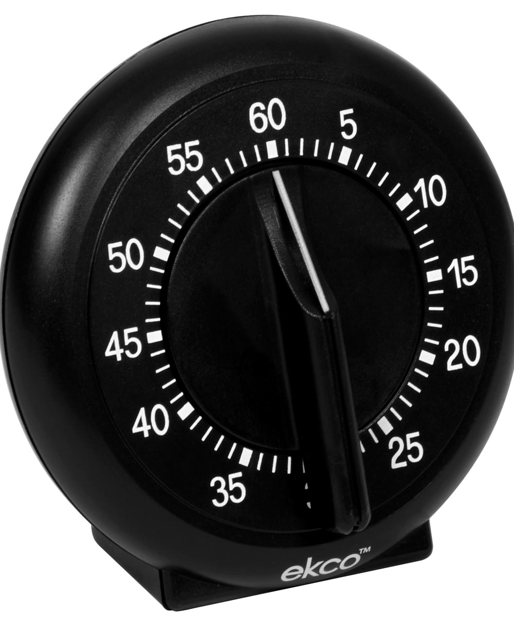 Black 60 Minute Dial Timer