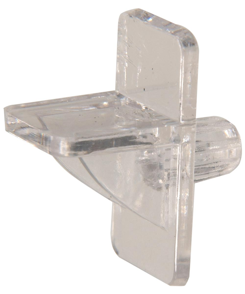 Square Clear Shelf Pin (5/16 in. Pin Length Fits 1/4 in. Hole)
