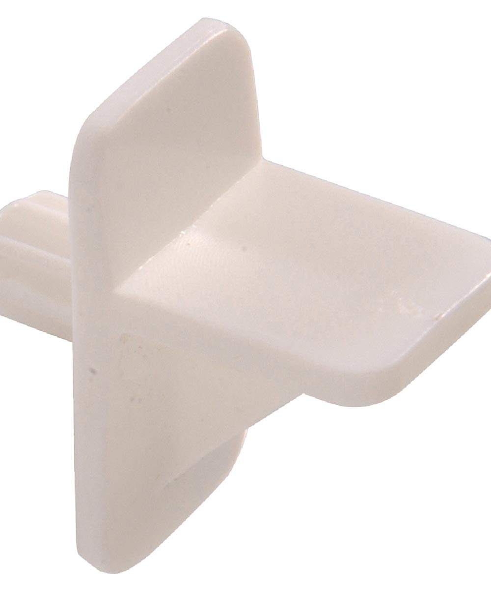 Square White Shelf Pin (1/4 in. Pin Length Fits 1/4 in. Hole)