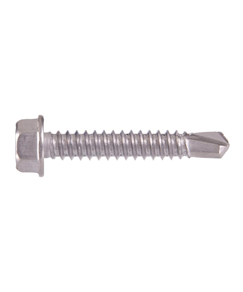 410 Stainless Steel Hex Washer Head Self Drilling Screws #10 x 1/2 in.