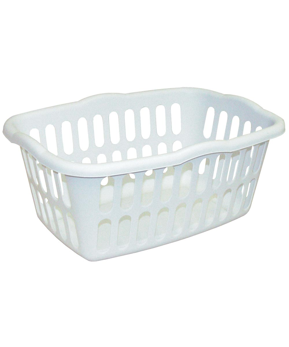 24 in. x 17-3/8 in. x 10-3/8 in. White Rectangle Laundry Basket