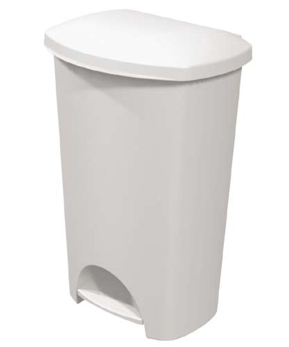 Sterilite 44 Quart StepOn Trash Can, White