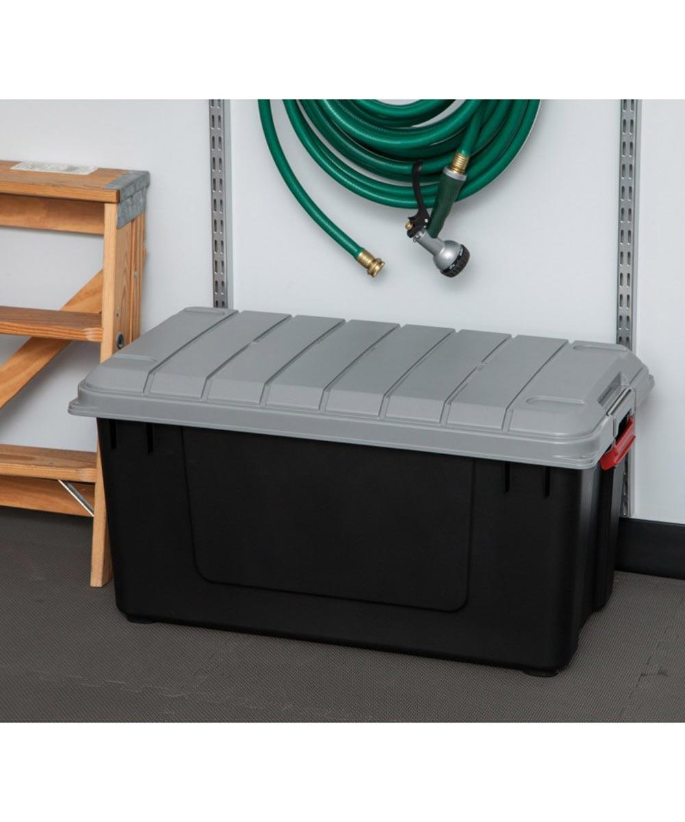 Store-It-All WEATHERTIGHT Storage Tote, Gray, 81.6 Qt / 20.4 Gal.