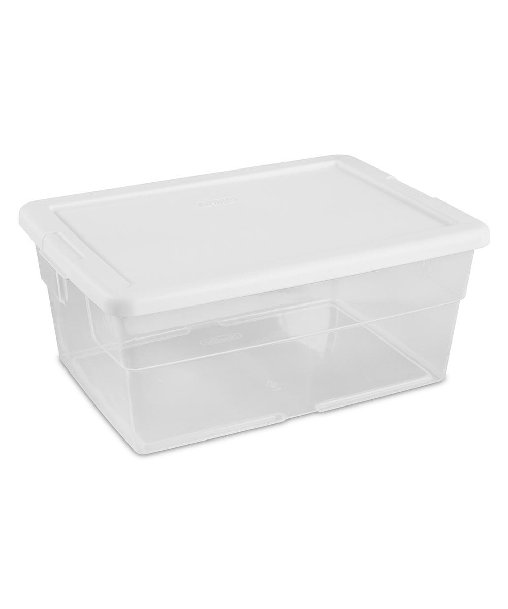 Sterilite 16 Quart Stackable Storage Box with Lid