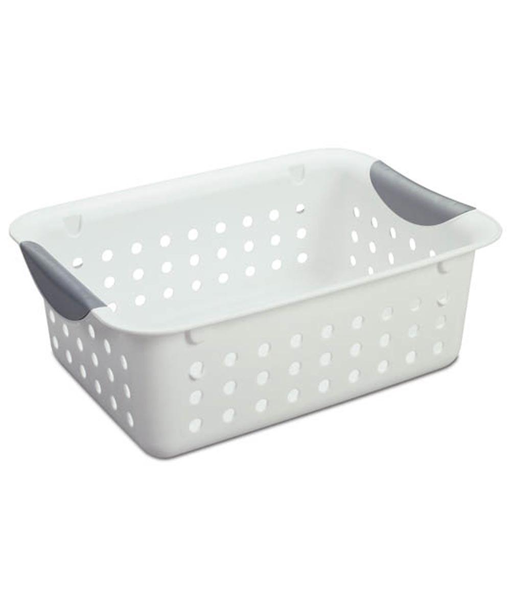 Sterilite Small Ultra Storage Basket, White