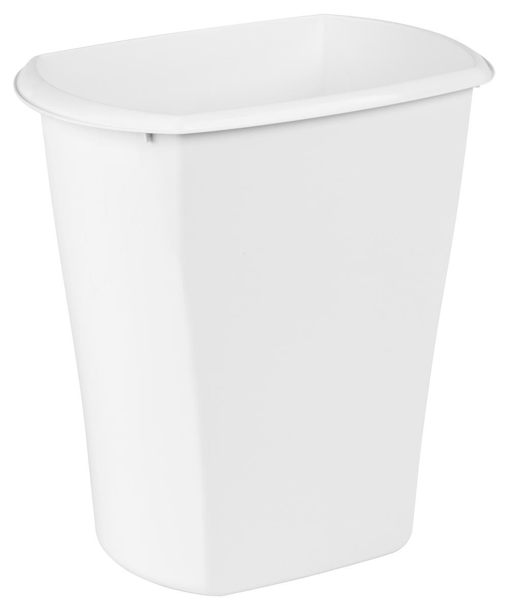 Sterilite 5.5 Gallon Rectangle Wastebasket, White