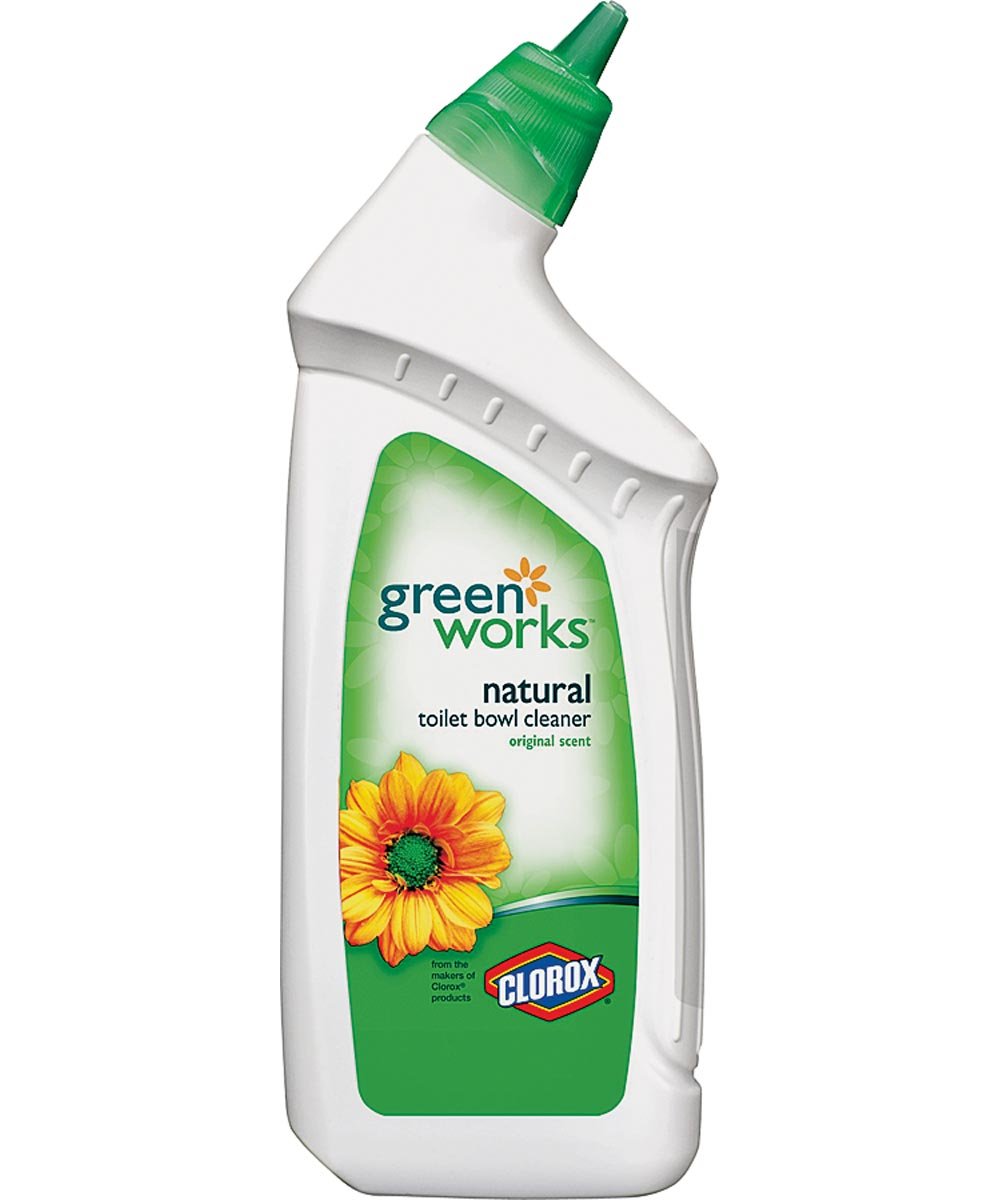 Green Works Toilet Bowl Cleaner, 24 oz Bottle, Cloudy Light Green Liquid