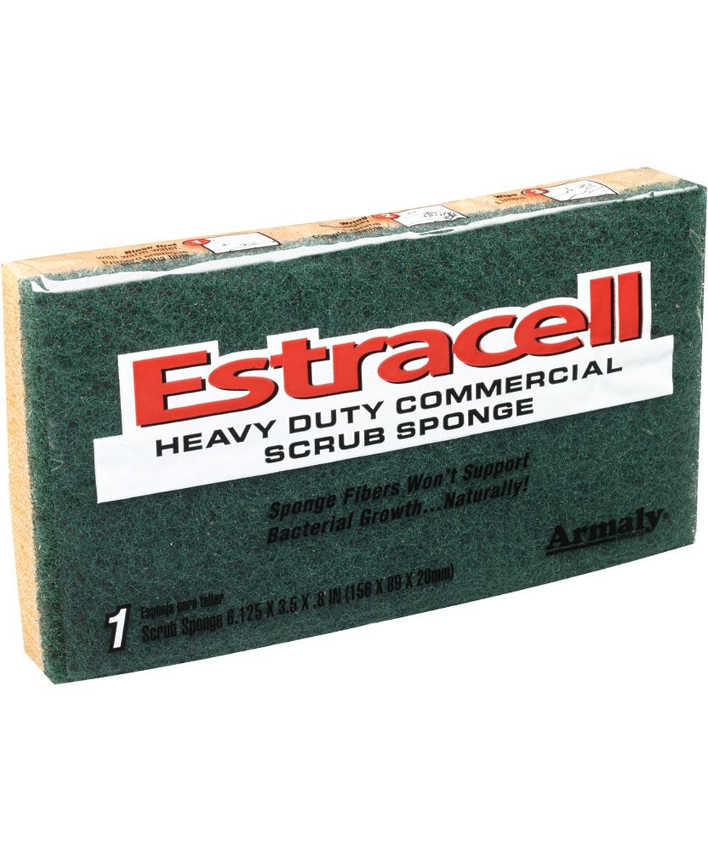 6.125 in. x 3.5 in. x .8 in. Large Estracell Heavy-Duty Scrub Sponge