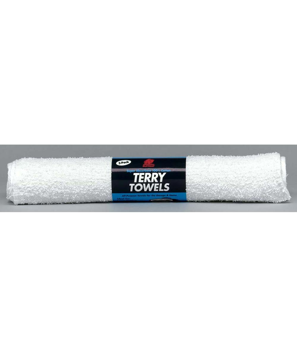 14 in. x 17 in.  White Terry Cloth Towels 3 Count