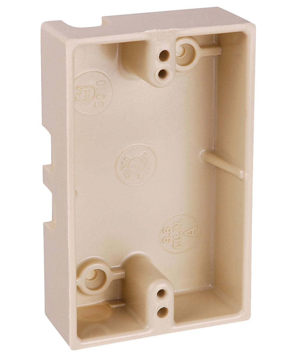 Ivory Single Gang Box