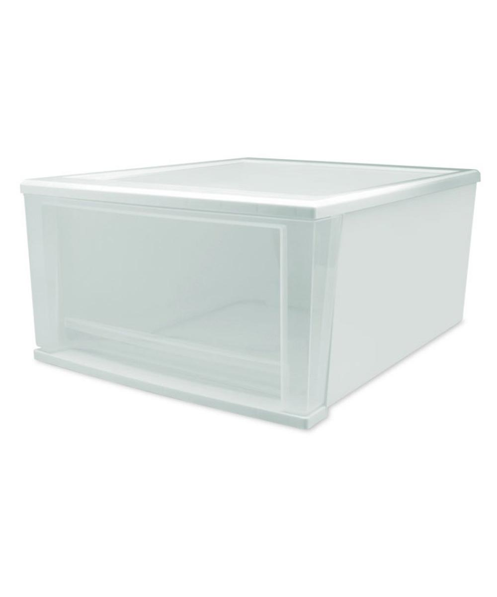 Large Stacking Drawer, White
