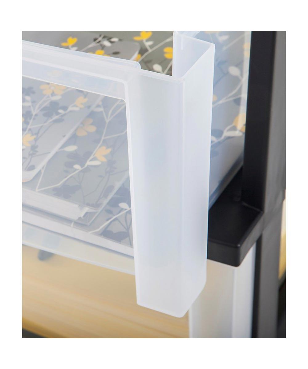 Wide 5-Drawer Storage Chest, Black/Clear