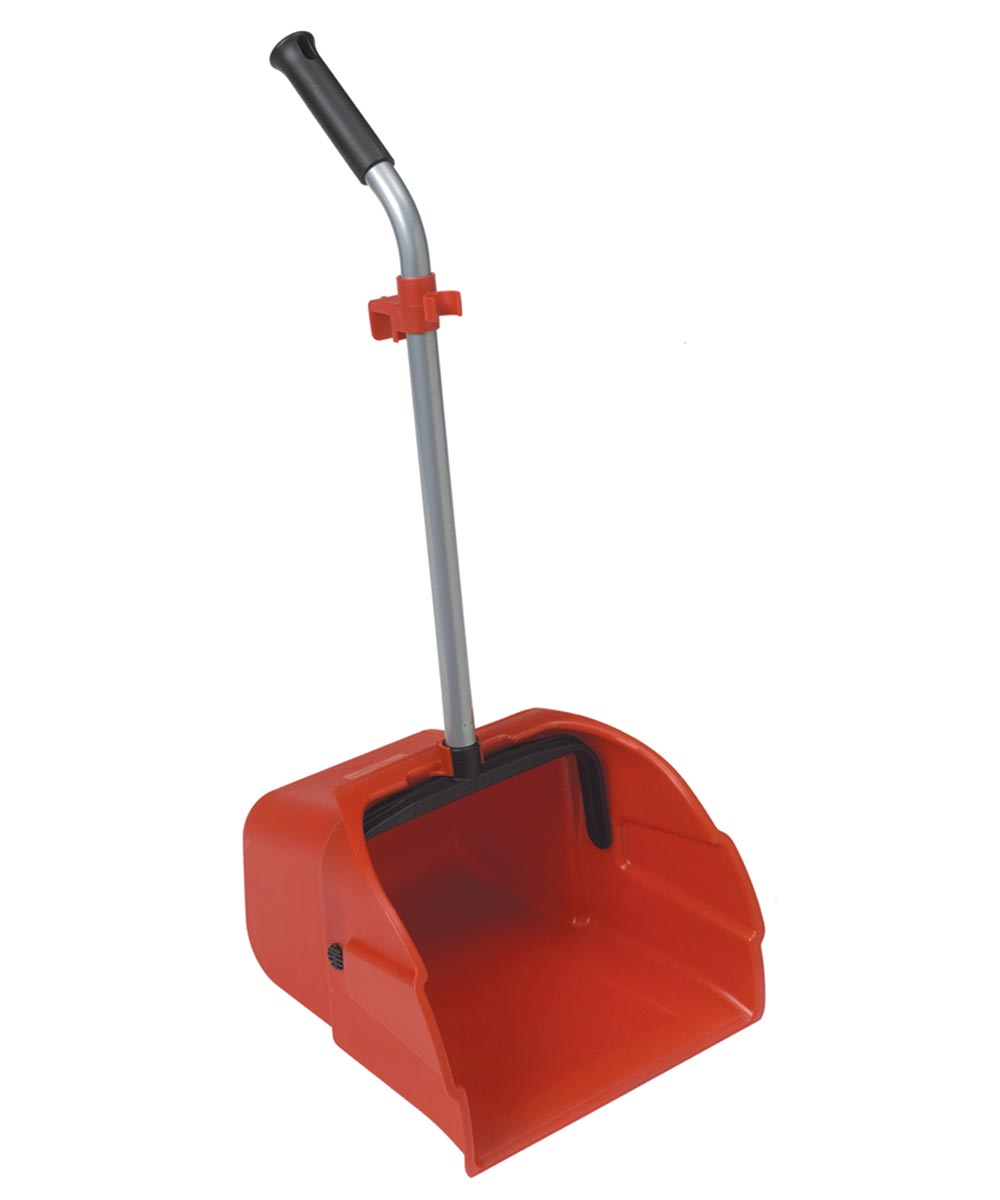 12 in. Jumbo Lobby Dustpan With Long Handle