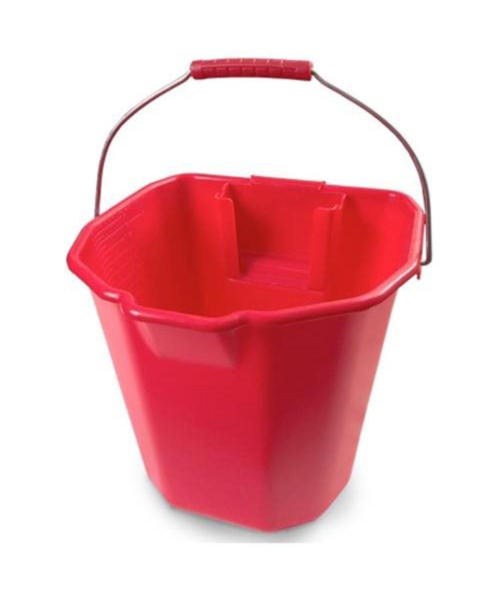 17 Quart Heavy Duty Mop Bucket, Red
