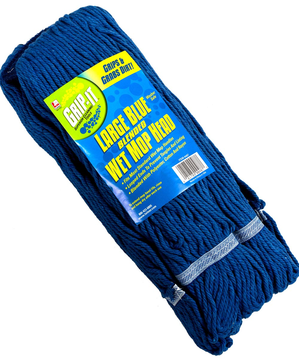 4 Ply Large Blue Looped Mop Head