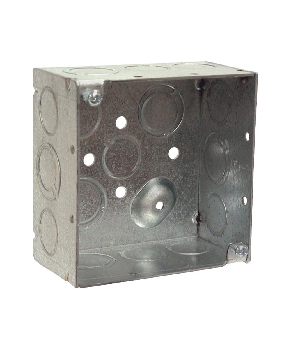 4 in. Square Box With Knockouts