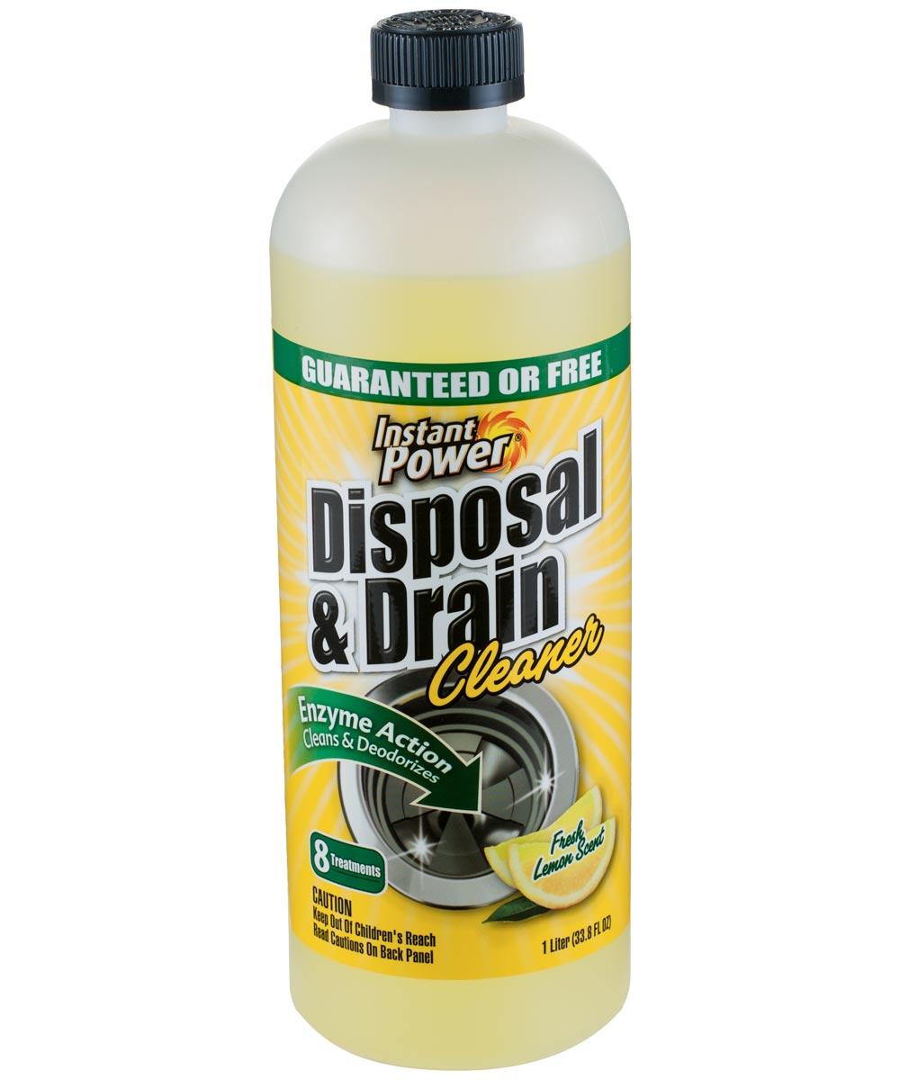 Fresh Lemon Scent Disposal & Drain Cleaner, 1 liter
