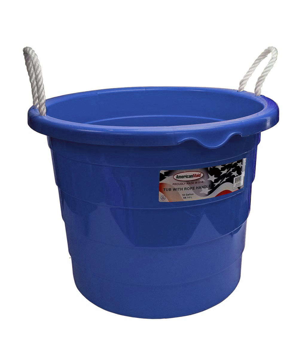 18 Gallon Tub with Rope Handles, Assorted Colors