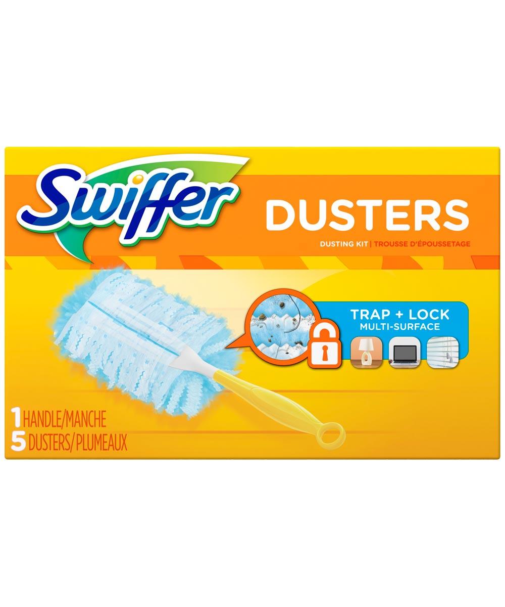Swiffer Duster Starter Kit, 5 Count, Fibre, White