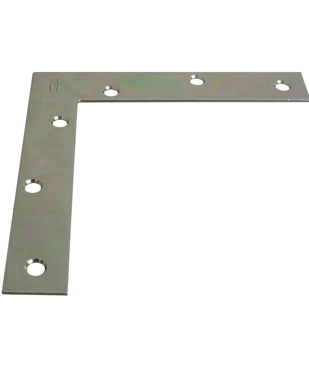 6 in. x 1 in. Zinc Plated Flat Corner Brace