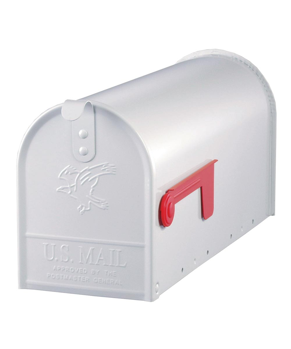 White Elite Premium Steel Mailbox