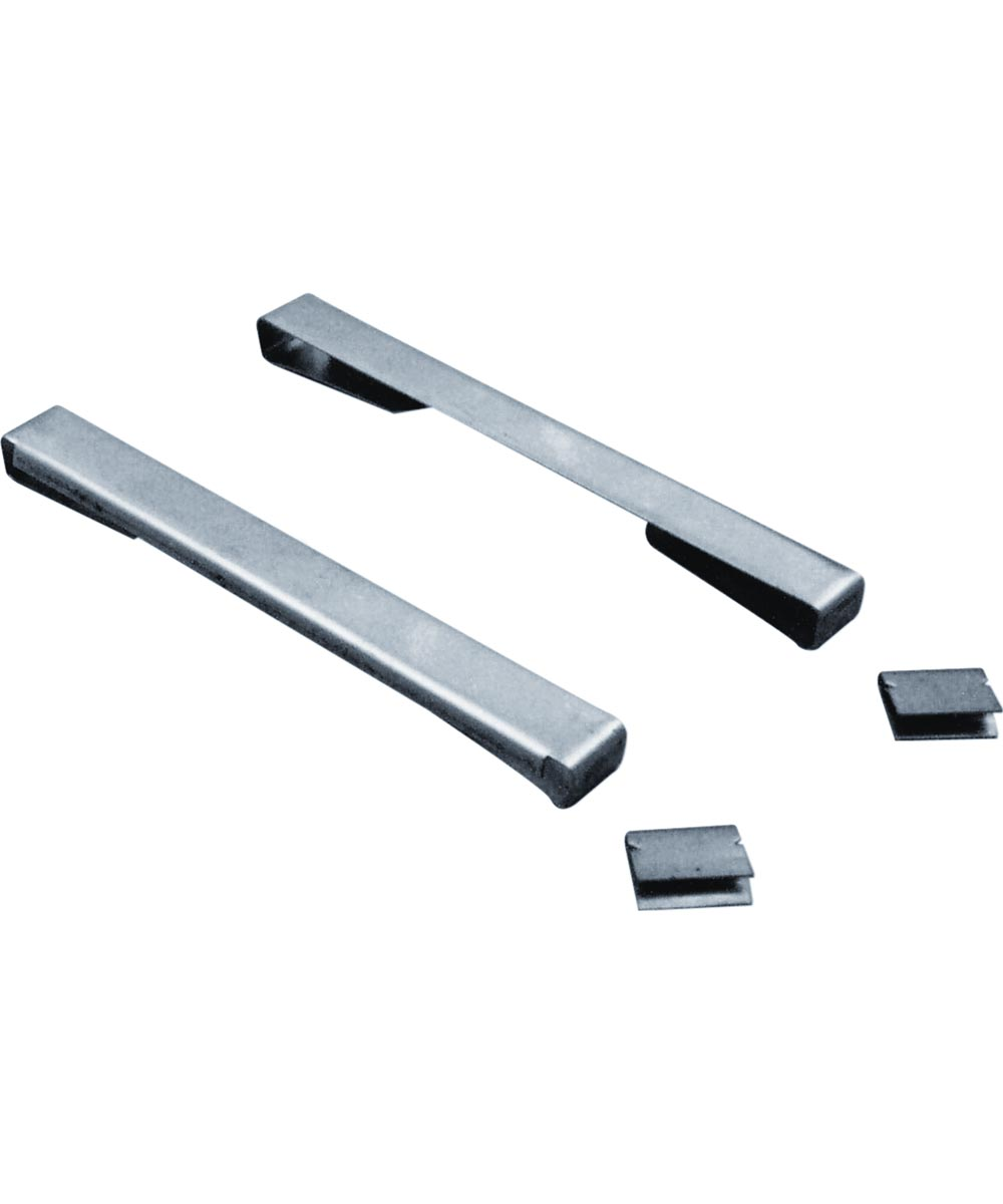 4 inch  Louver Glass Security Clips, Stainless Steel, 10 per pkg.