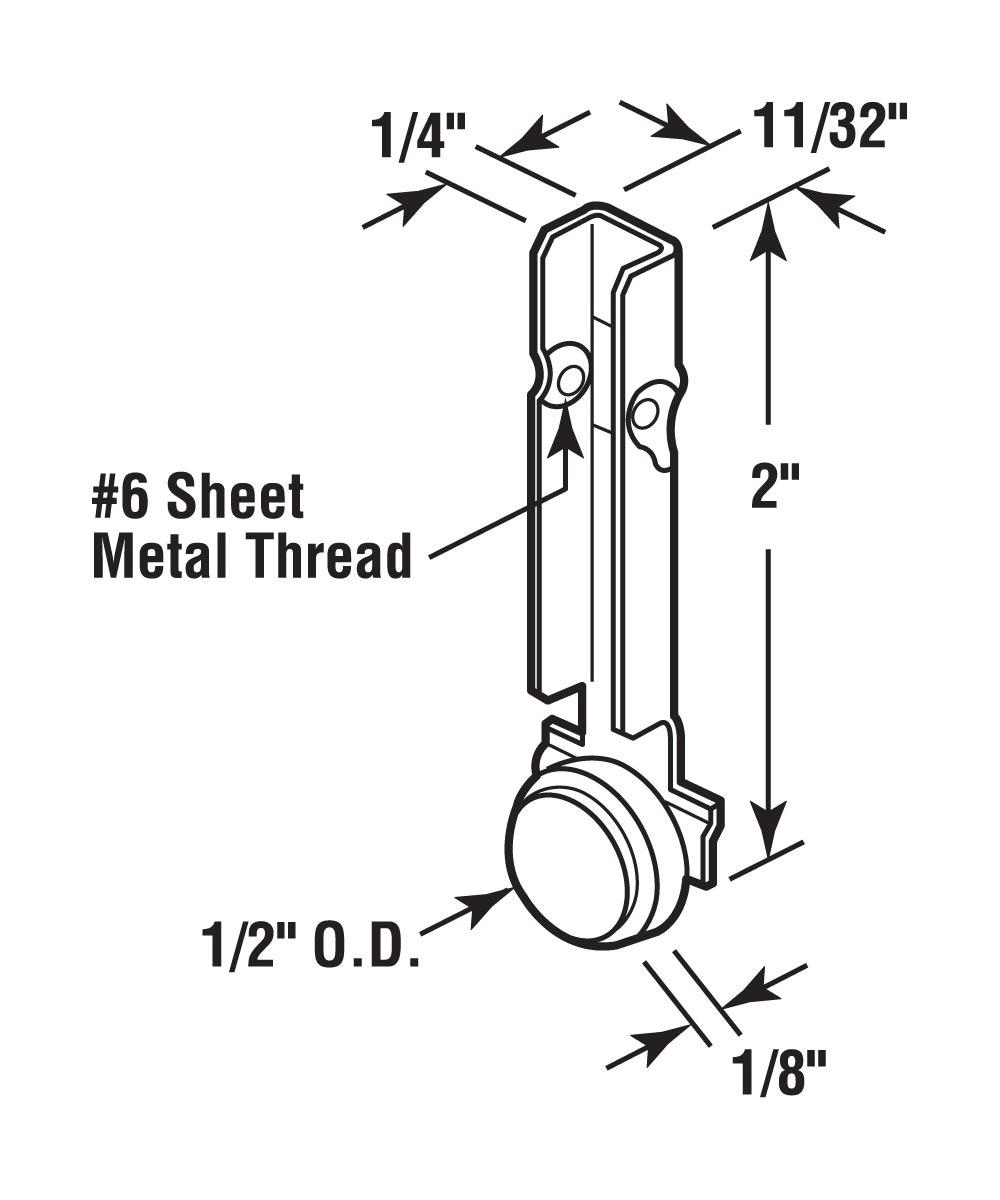 G 3077 Sliding Window Roller Assembly,(Pack of 2)