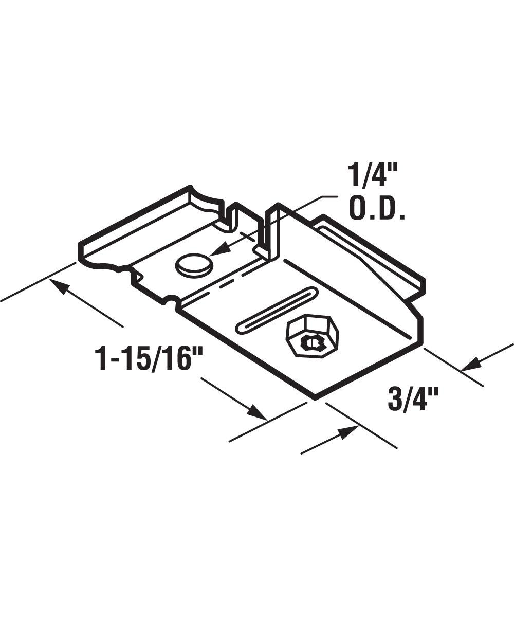 Bi-Fold Top Pivot Bracket, Acme 2900 Series, 1 per package