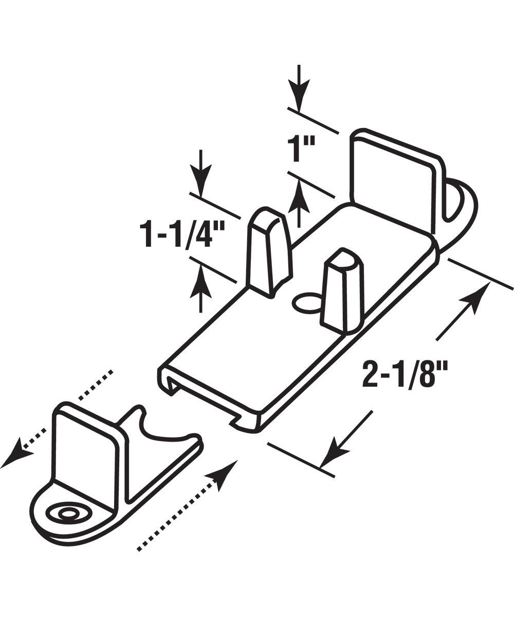 Sliding Closet Door Floor Guide, Adjustable, Nylon, 2 per package